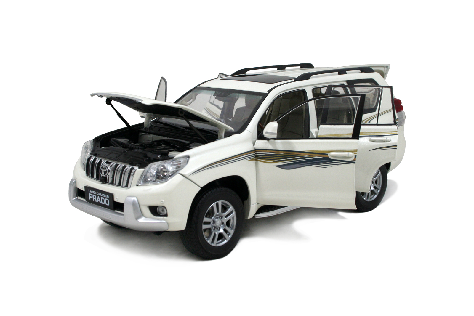 toyota land cruiser prado 2009 1 18 scale diecast model. Black Bedroom Furniture Sets. Home Design Ideas