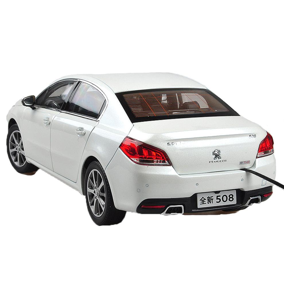 Peugeot 508 2015 1/18 Scale White Diecast Model Car Wholesale 6