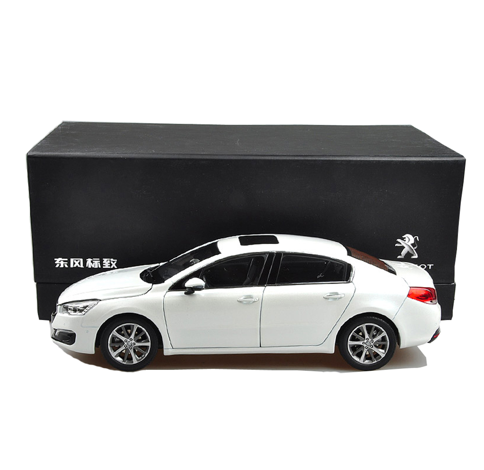 peugeot 508 2015 1 18 scale white diecast model car. Black Bedroom Furniture Sets. Home Design Ideas