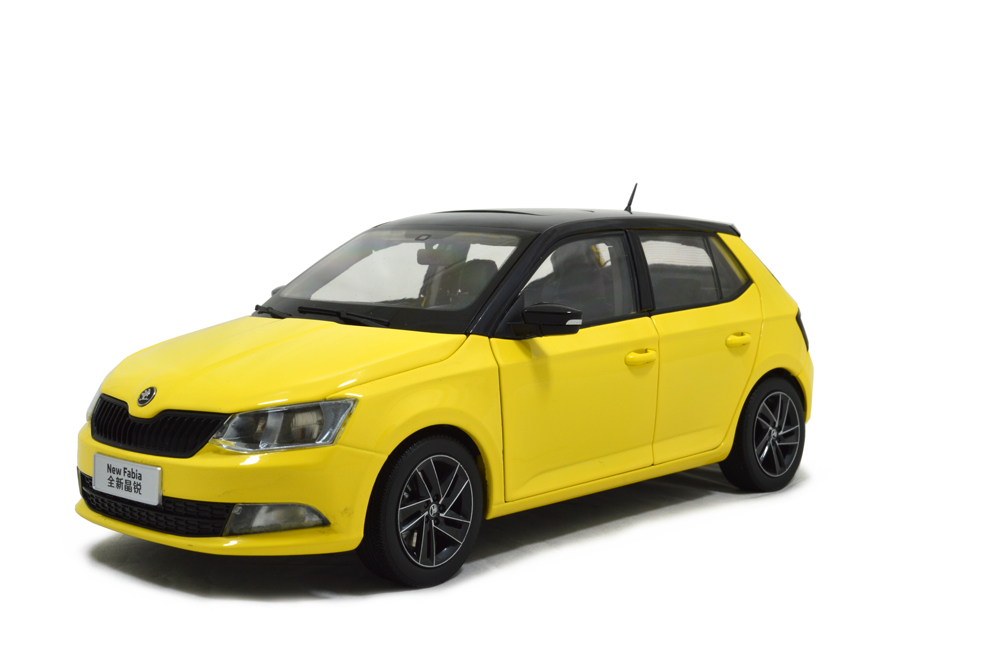 Paudi Model Skoda New Fabia 新晶锐 2015 yellow 1:18 scale diecast model car 5