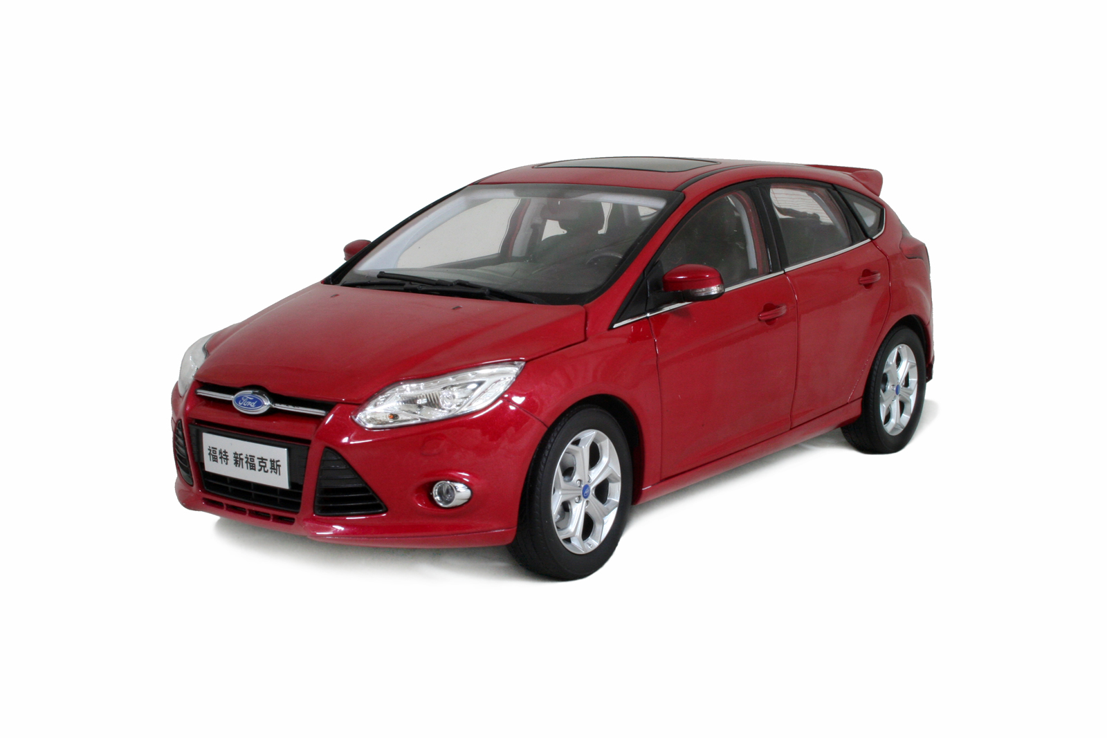 1:18 scale Ford-Focus-2012-Red model car 2