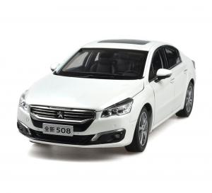 Peugeot 508 2015 1/18 Scale White Diecast Model Car Wholesale 15