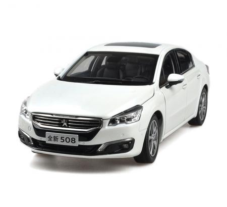 Peugeot 508 2015 1/18 Scale White Diecast Model Car Wholesale 1