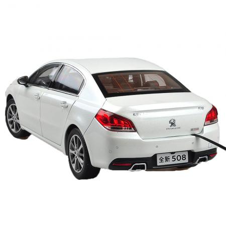 Peugeot 508 2015 1/18 Scale White Diecast Model Car Wholesale 2