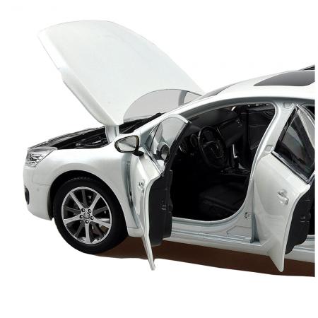 Peugeot 508 2015 1/18 Scale White Diecast Model Car Wholesale 3