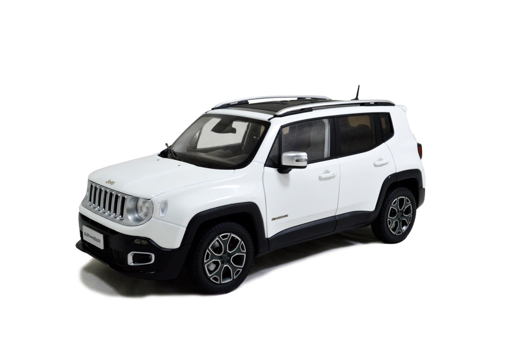 New listing! JEEP Renegade 2016 White 1:18 scale die-cast model car 9