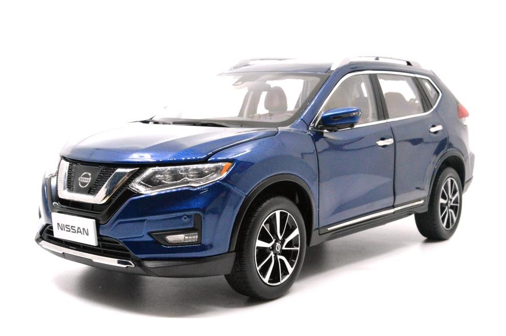 1/18 nissan rogue blue 2018 diecast car Front